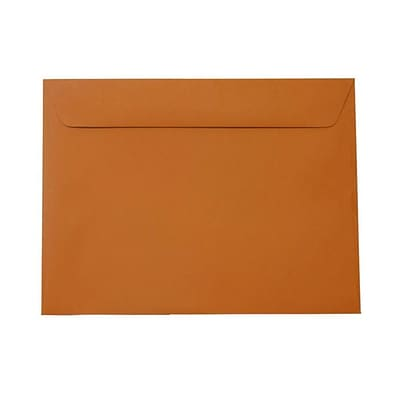 JAM Paper® 9 x 12 Booklet Envelopes, Dark Orange, 25/pack (61511366)