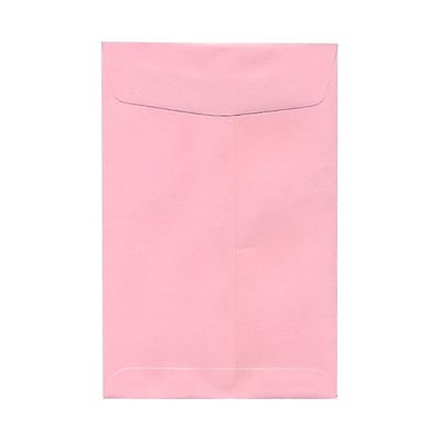 JAM Paper® 6 x 9 Open End Envelopes, Baby Pink, 10/pack (51285797B)