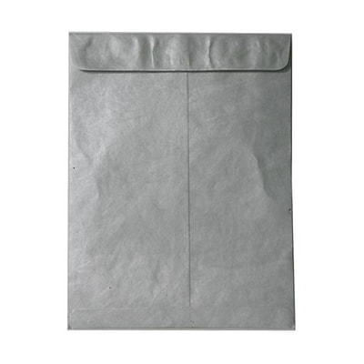 JAM Paper® 10 x 13 Tyvek Envelopes, Catalog Open End with Self Adhesive Closure, Silver, 25/pack (V021384)