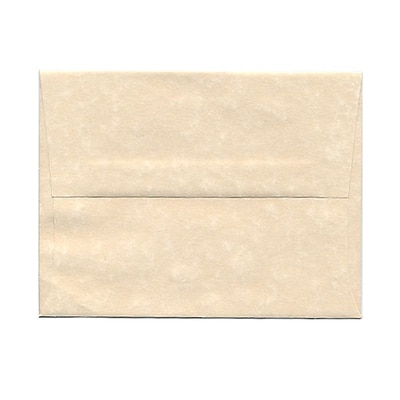 JAM Paper® A2 Invitation Envelopes, 4 3/8 x 5 3/4, Parchment Natural Recycled, 25/pack (34777)