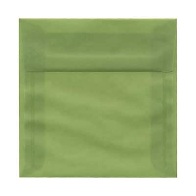 JAM Paper® 6 x 6 Square Envelopes, Leaf Green Translucent Vellum, 25/pack (PACV513)