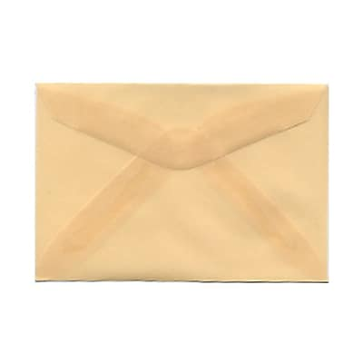 JAM Paper® 3drug Mini Small Envelopes, 2 5/16 x 3 5/8, Spring Ochre Ivory Translucent Vellum, 25/pack (1591586)