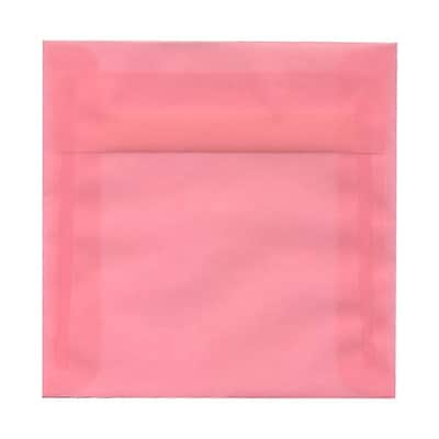 JAM Paper® 6 x 6 Square Envelopes, Blush Pink Translucent Vellum, 25/pack (1591931)