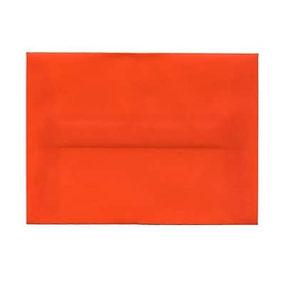 JAM Paper® A6 Invitation Envelopes, 4.75 x 6.5, Orange Translucent Vellum, 25/pack (PACV669)