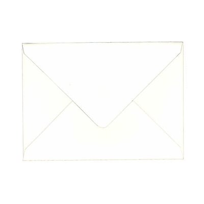 JAM Paper® A7 Invitation Envelopes, 5.25 x 7.25, 80lb Strathmore Bright White Wove with V-Flap, 1000/carton (1921392C)
