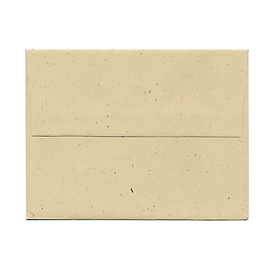JAM Paper® A2 Recycled Invitation Envelopes, 4.375 x 5.75, Genesis Husk, 25/Pack (3180)