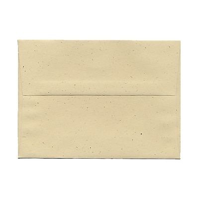 JAM Paper® A7 Recycled Invitation Envelopes, 5.25 x 7.25, Genesis Husk, 25/Pack (3206)