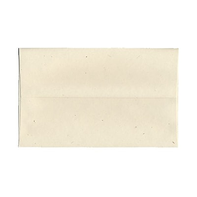 JAM Paper® A10 Invitation Envelopes, 6 x 9.5, Milkweed Ivory Recycled, 25/pack (3313)