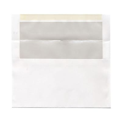JAM Paper® A9 Foil Lined Envelopes, 5.75 x 8.75, White with Ivory Lining, 25/pack (532412546)