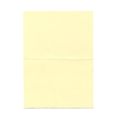 JAM Paper® Blank Foldover Cards, 4bar / A1 size, 3 1/2 x 4 7/8, Ivory Linen, 500/box (309877B)