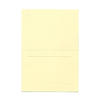 JAM Paper® Blank Foldover Cards, 4bar / A1 size, 3 1/2 x 4 7/8, Ivory Panel, 500/box (309898B)