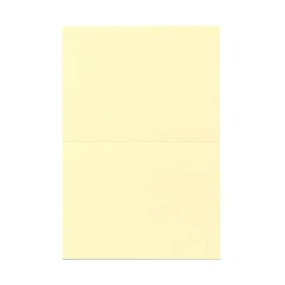 JAM Paper® Blank Foldover Cards, A6 size, 4 5/8 x 6 1/4, Ivory, 500/box (0309920B)