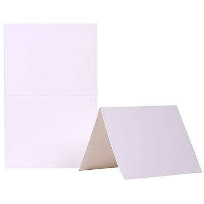 JAM Paper® Blank Foldover Cards, A2 size, 4 3/8 x 5 7/16, Ivory Panel, 500/box (309914B)