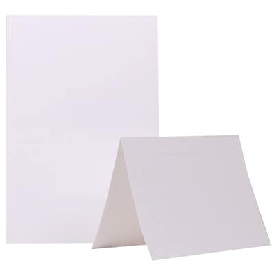 JAM Paper® Blank Foldover Cards, A7 size, 5 x 6 5/8, Ivory, 500/box (0309940B)
