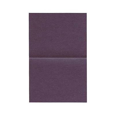 JAM Paper® Blank Foldover Cards, A2 size, 4.25 x 5.5, Stardream Metallic Ruby Purple, 50/pack (6935525)