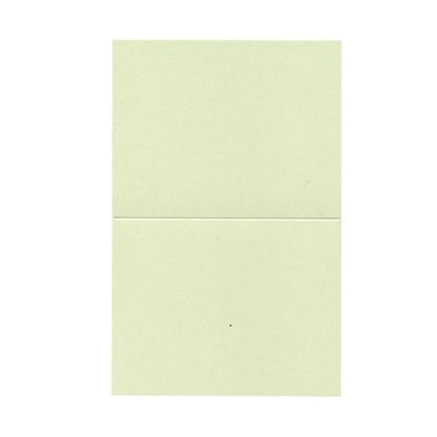 JAM Paper® Blank Foldover Cards, A2 size, 4.25 x 5.5, Stardream Metallic Serpentine Green, 50/pack (69313372)