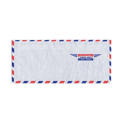 JAM Paper® Airmail #10 Envelopes, 4 1/8 x 9 1/2, 25/pack (A35532)
