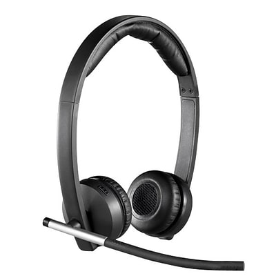 Logitech® H820e Wireless DECT Dual Headset; Black