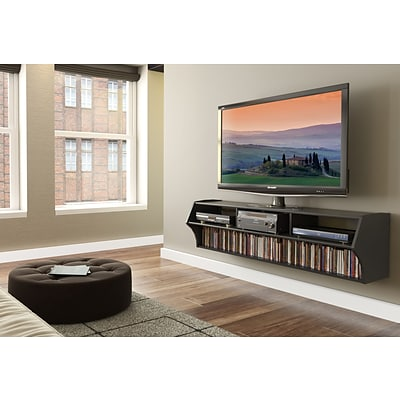 Prepac™ Altus Plus 58 Floating Flat Panel Plasma /LCD TV Stand, Black