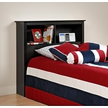 Prepac™ 44.75 Twin Bookcase Headboard, Black