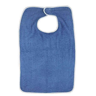 DMI® Terry Cloth Patient Protector With Hook and Loop, Navy, 12/Pack