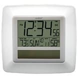 La Crosse Technology® Solar Atomic Digital Clock With Temperature & Humidity, White