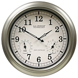 La Crosse Technology® 18 Indoor/Outdoor Thermometer & Hygrometer Wall Clock