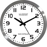 La Crosse Technology® 16 Stainless Steel Atomic Clock, White