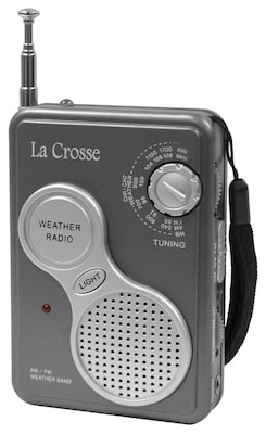 La Crosse Technology(r) 809905 AM/FM Handheld NOAA Weather Radio