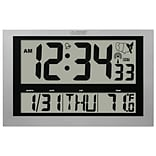 La Crosse Silver Digital Wall/Table Clock