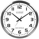 La Crosse Metal Analog Wall Clock, Silver