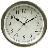 Equity by La Crosse 8 Inch Brushed Titanium Metal Wall Clock (28283)