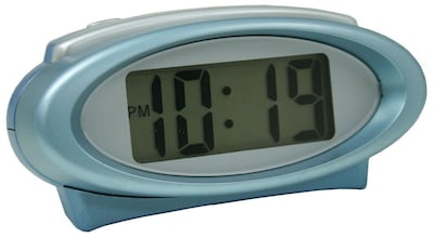 Equity by La Crosse Digital Alarm Clock with Night Vision Technology, Blue (30330)