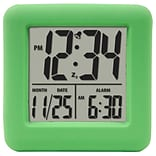 Equity by La Crosse Soft Green Cube LCD Alarm Clock (70903)