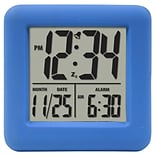 Equity by La Crosse Soft Blue Cube LCD Alarm Clock (70905)