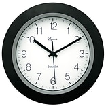 Equity by La Crosse™ 10 InstaSet Wall Clock, Black