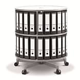 Moll® Rotary Two Tier Spin & File Binder Storage Carousel, White