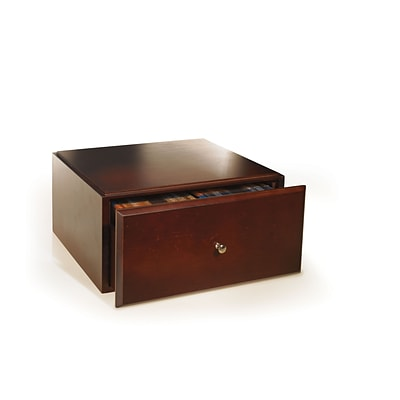 Empire Stack & Style™ Wood Desk Organizers Media Storage Drawer, Mahogany