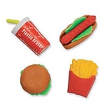SmileMakers® Fast Food Erasers, 48 Pcs