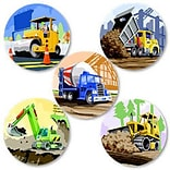 SmileMakers® Earth Movers Stickers, 2-1/2H x 2-1/2W, 100/Box