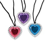 SmileMakers® Jumbo Jewel Heart Necklaces; 72 PCS