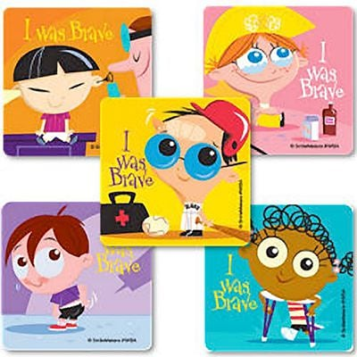 SmileMakers® Brave Kids Stickers, 2-1/2H x 2-1/2W, 100/Roll