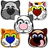 SmileMakers® Animal Shapes Stickers; 75/Roll