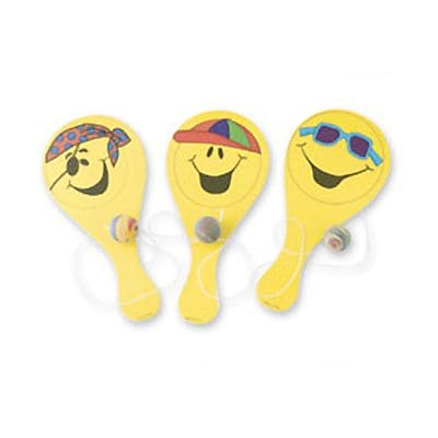 SmileMakers® Smiley Paddleballs; 24 PCS