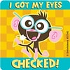 SmileMakers® Eyes Checked Monkey Sticker; 100/Box