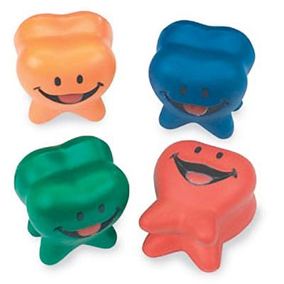 SmileMakers® Happy Tooth Stress Balls; 24 PCS