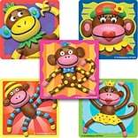 SmileMakers® Sock Monkeys Stickers, 2-1/2H x 2-1/2W, 100/Box