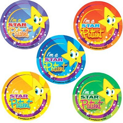 SmileMakers® Star Patient Stickers, 2-1/2H x 2-1/2W, 100/Roll