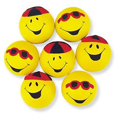SmileMakers® Smiley Squeeze Balls; 12 PCS