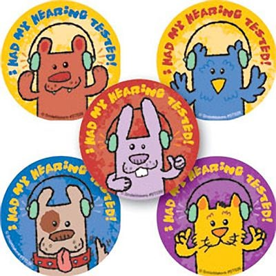 SmileMakers® Animal Hearing Test Stickers, 2-1/2H x 2-1/2W, 100/Roll